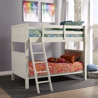 Home Styles Naples White Twin Over Twin Bunk Bed