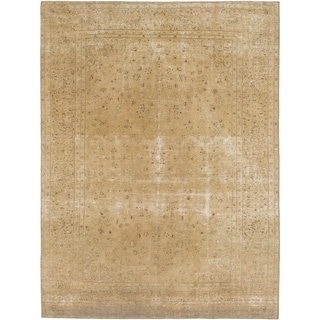 Hand Knotted Ultra Vintage Wool Area Rug - 9' 7 x 12' 10
