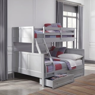 Copper Grove Dugaresa Grey Wood Twin-over-Full Storage Bunk Bed