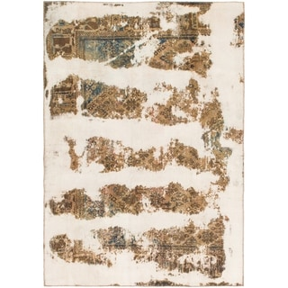 Hand Knotted Ultra Vintage Wool Area Rug - 5' 10 x 8' 5