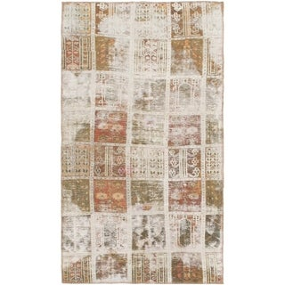Hand Knotted Ultra Vintage Wool Area Rug - 3' 6 x 6'