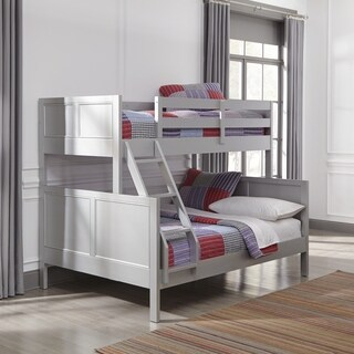 Home Styles Venice Grey Wood Twin-over-Full Bunk Bed