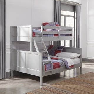 Link to Copper Grove Dugaresa Grey Wood Twin-over-Full Bunk Bed Similar Items in Kids' & Toddler Beds