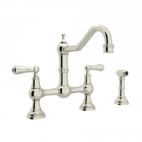 Rohl U.4756L-PN-2 Perrin and Rowe Bridge Kitchen Faucet