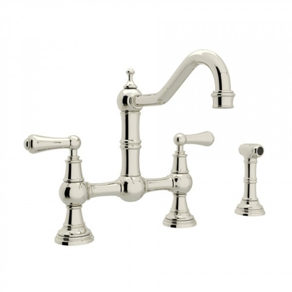 Rohl U.4756L-PN-2 Perrin and Rowe Bridge Kitchen Faucet. Opens flyout.