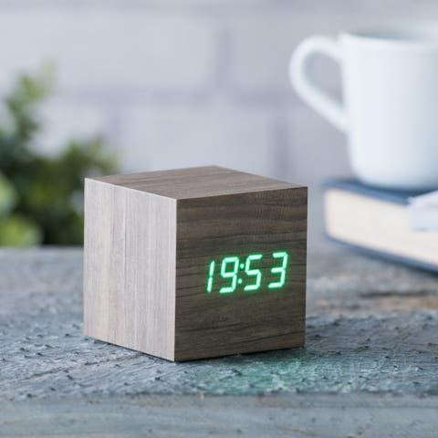 Gingko Cube Digital LED Alarm Clock