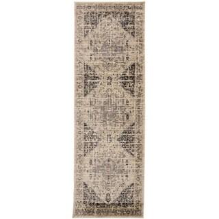 """Grand Bazaar Huron Charcoal/Beige - 2'6"""" x 7'7"""""""