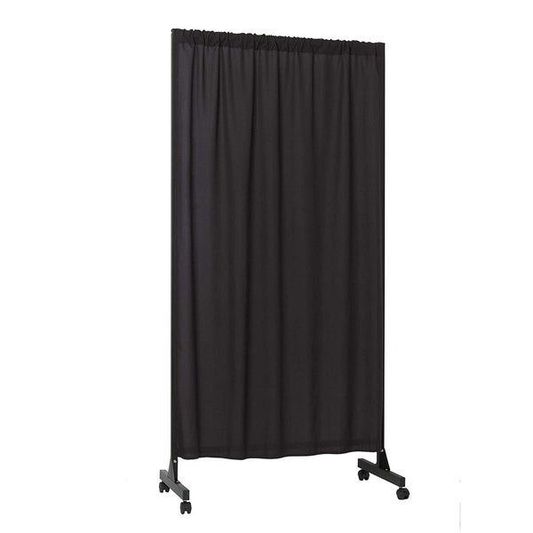 Don't Look At Me - Partial Room Divider - Black Frame with Black Fabric