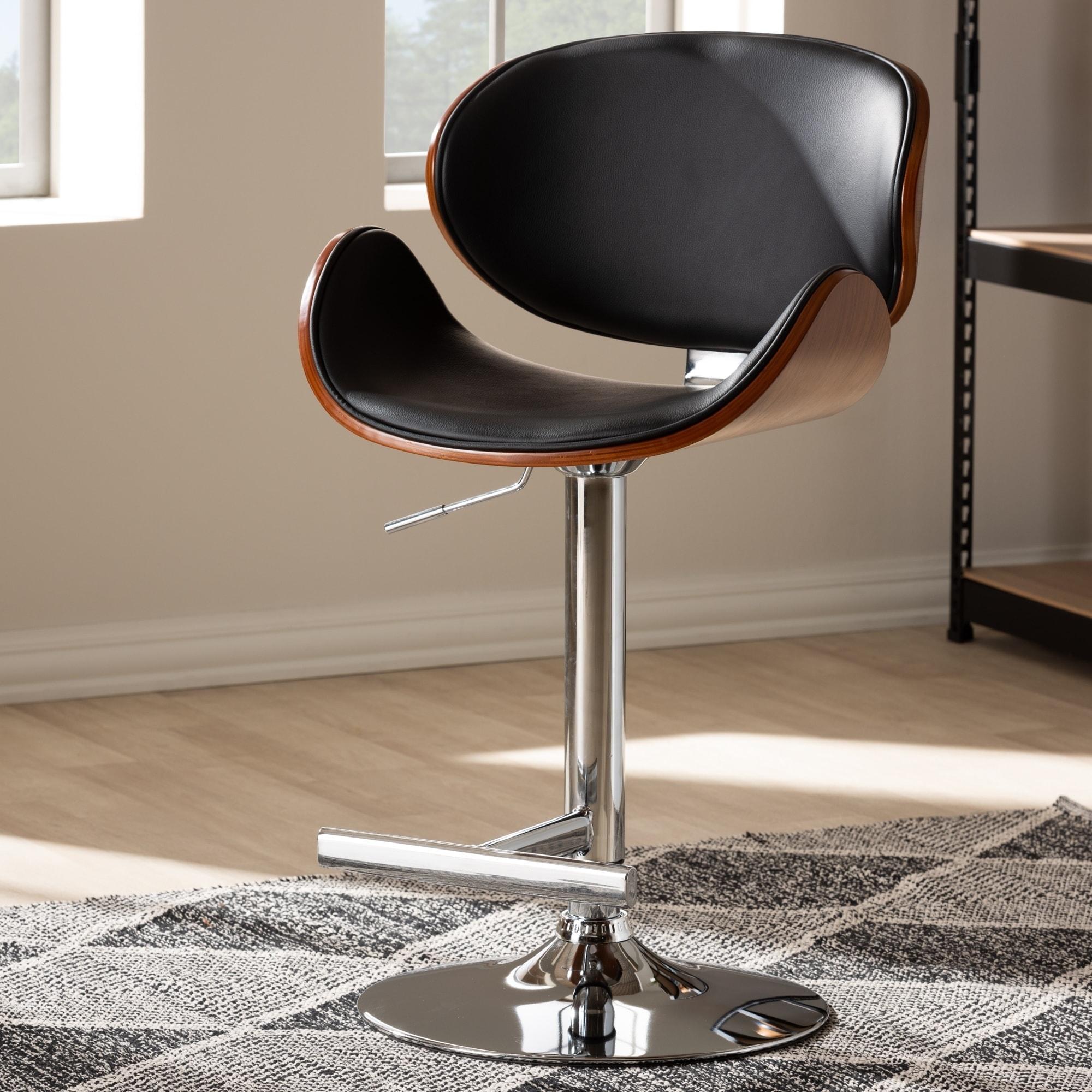 Brilliant Contemporary Black Adjustable Swivel Bar Stool By Baxton Studio Lamtechconsult Wood Chair Design Ideas Lamtechconsultcom