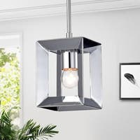 Elisi 5-inch Square Pendant Lamp with Chrome Finish