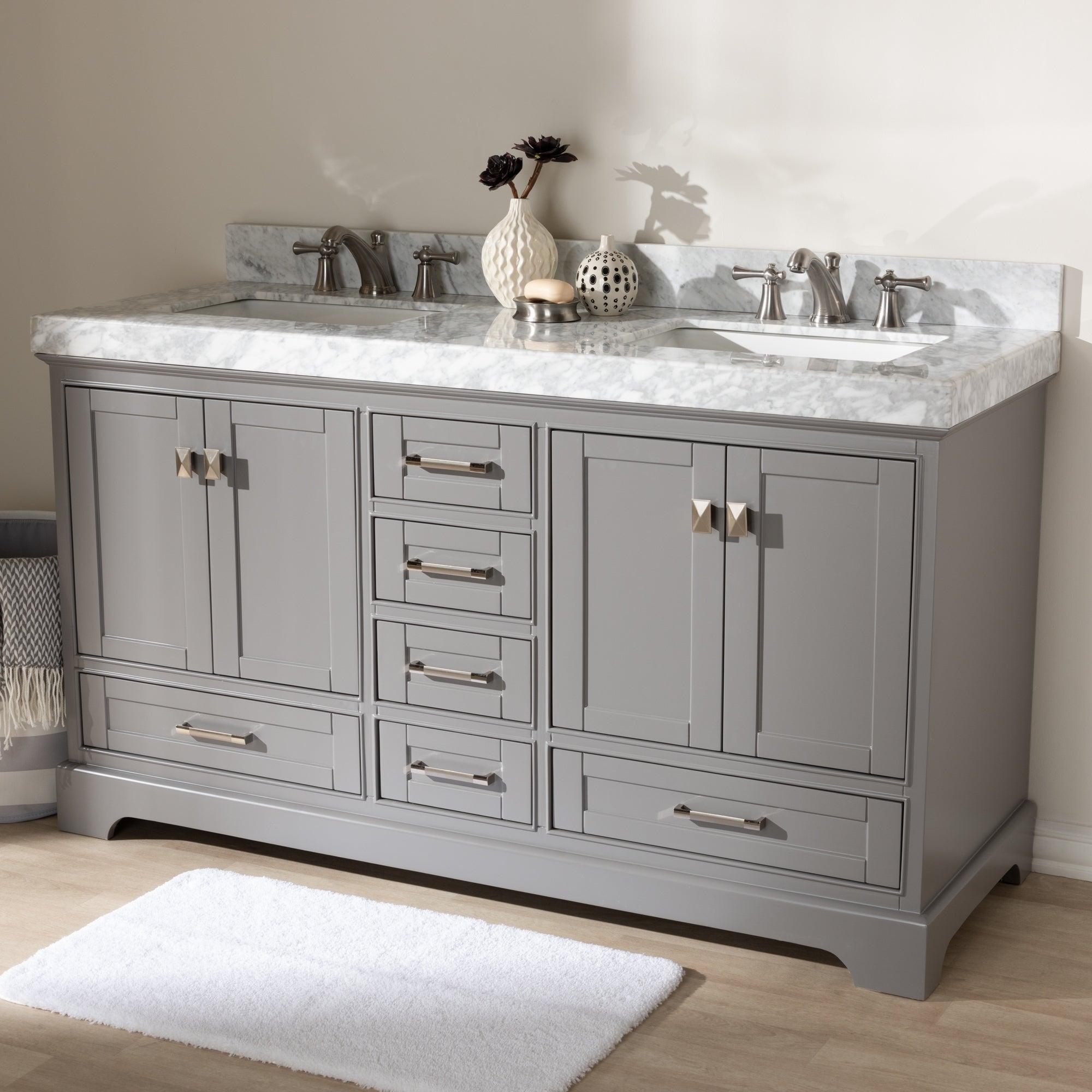 Shop 60 Inch Double Sink Bathroom Vanity By Baxton Studio
