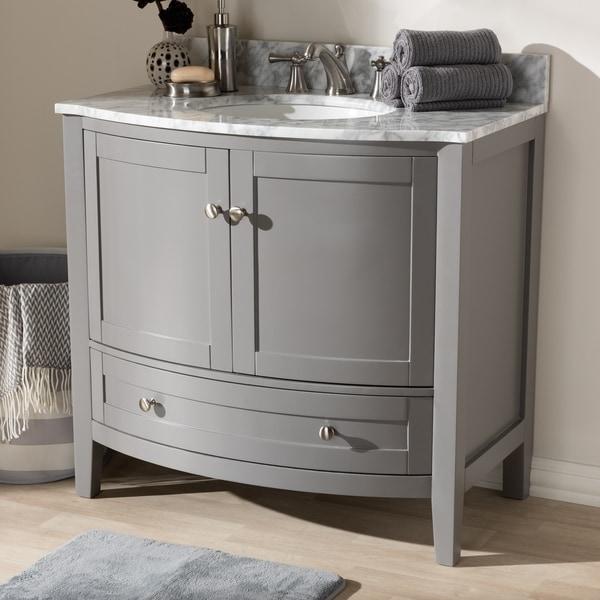 36-Inch Single Sink Bathroom Vanity by Baxton Studio