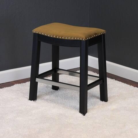 Silver Orchid Rosar Velvet Espresso Counter Chair