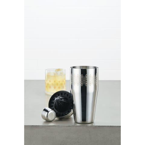 Ayesha Barware 4-in-1 Stainless Steel Cocktail Shaker