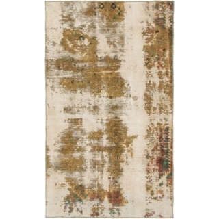 Hand Knotted Ultra Vintage Wool Area Rug - 3' 3 x 5' 6