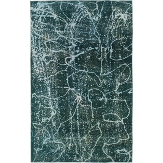 Hand Knotted Ultra Vintage Wool Area Rug - 6' x 9' 6