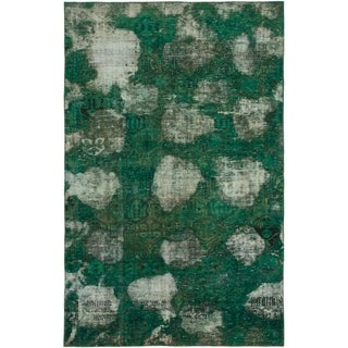 Hand Knotted Ultra Vintage Wool Area Rug - 5' 8 x 9'