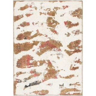 Hand Knotted Ultra Vintage Wool Area Rug - 3' 8 x 5'