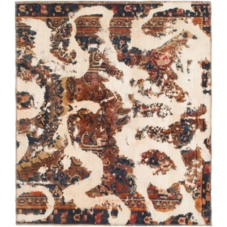 Hand Knotted Ultra Vintage Wool Square Rug - 4' 5 x 5'