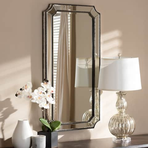 Art Deco Antique Silver Wall Mirror by Baxton Studio - Antique Silver