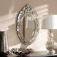 Traditional Silver Venetian Style Wall Mirror by Baxton Studio - Antique Silver