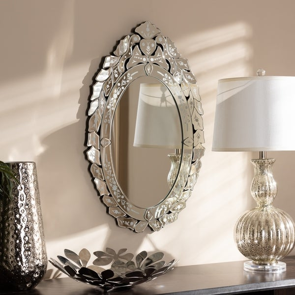 Shop Traditional Silver Venetian Style Wall Mirror By