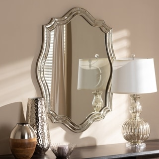 Link to Art Deco Antique Silver Wall Mirror by Baxton Studio - Antique Silver Similar Items in Mirrors