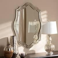 Art Deco Antique Silver Wall Mirror by Baxton Studio - Antique Silver