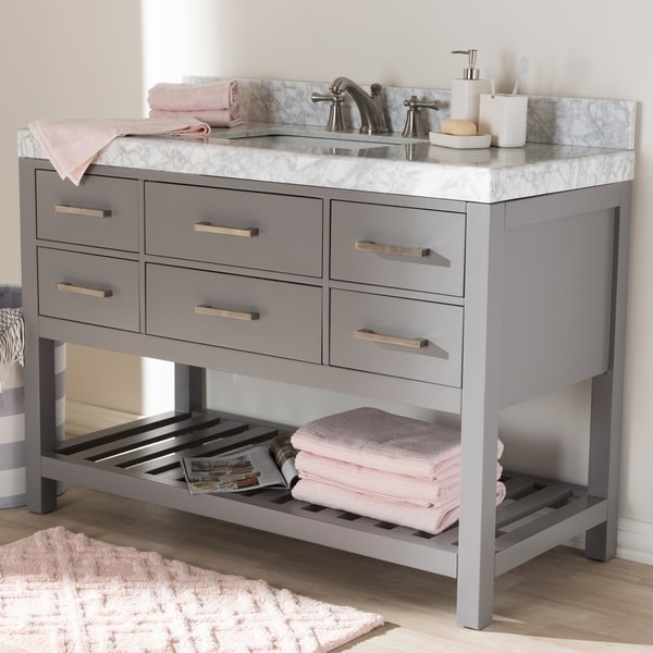 Shop 48 Inch Single Sink Bathroom Vanity By Baxton Studio Free