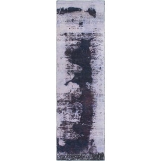 Hand Knotted Ultra Vintage Wool Runner Rug - 2' 8 x 9' 6