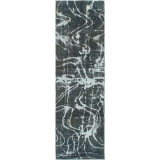 Hand Knotted Ultra Vintage Wool Runner Rug - 2' 8 x 9' 3