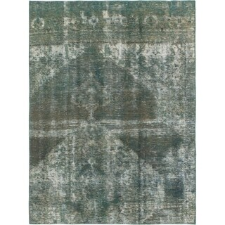 Hand Knotted Ultra Vintage Wool Area Rug - 5' x 6' 8