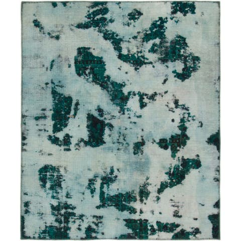 Hand Knotted Ultra Vintage Wool Square Rug - 5' x 6'