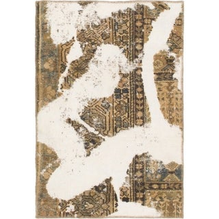 Hand Knotted Ultra Vintage Wool Area Rug - 2' 6 x 3' 7