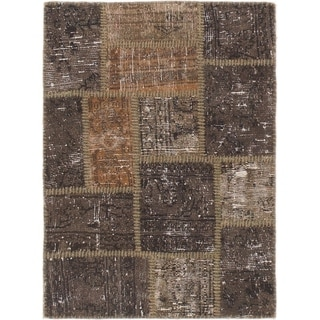 Hand Knotted Ultra Vintage Wool Area Rug - 2' 4 x 3' 3
