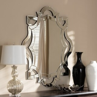 Contemporary Silver Wall Mirror by Baxton Studio - Antique Silver