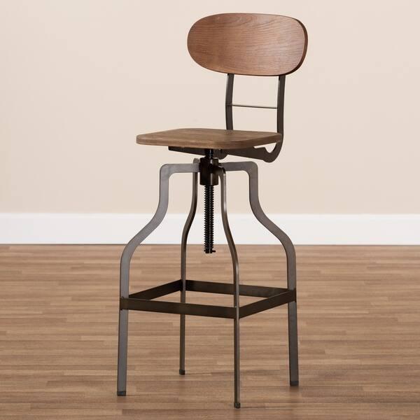 Terrific Shop Industrial Rust Finished Adjustable Swivel Bar Stool By Uwap Interior Chair Design Uwaporg