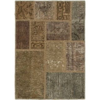 Hand Knotted Ultra Vintage Wool Area Rug - 2' 3 x 3' 3