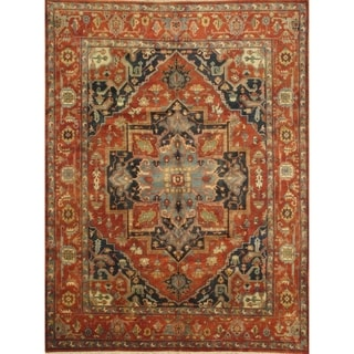 "Pasargad DC Indo Hand-Knotted Serapi Rug - 9'1"" X 12'3"""