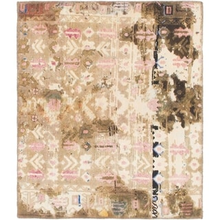 Hand Knotted Ultra Vintage Wool Area Rug - 2' 9 x 3' 4