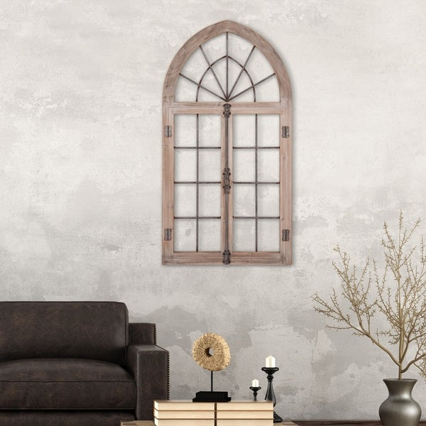 Shop Patton Wall Decor Distressed Gray Arched Cathedral