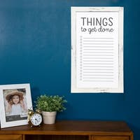 Rustic Whitewash To Do List Wall Mount Whiteboard