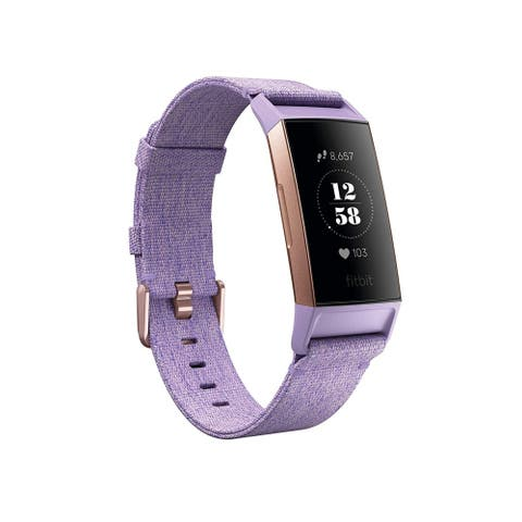 Fitbit Charge 3 Heart Rate Monitor & Activity Tracker Special Edition Lavender/Rose Gold