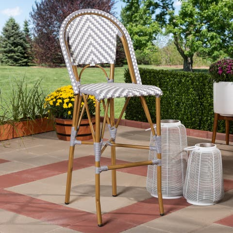 Indoor and Outdoor Stackable Bar Stool by Baxton Studio