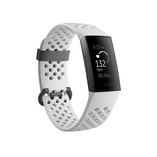Fitbit Charge 3 Heart Rate Monitor & Activity Tracker Special Edition Frost White