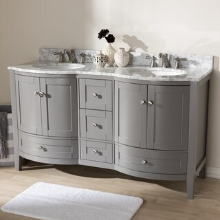 60-Inch Double Sink Bathroom Vanity by Baxton Studio