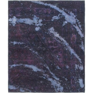 Hand Knotted Ultra Vintage Wool Area Rug - 3' 6 x 4' 2