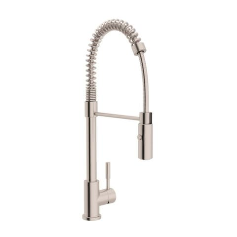 Rohl R7521SS Lux Side Lever Stainless Steel Professional Pull-down Kitchen Faucet - STAINLESS STEEL