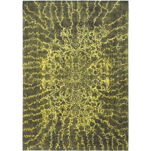 Hand Knotted Ultra Vintage Wool Area Rug - 9' 9 x 13' 9