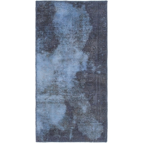 Hand Knotted Ultra Vintage Wool Area Rug - 2' x 4'